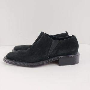 CNC Costume Nation Black Suede Slip On Shoes 9.5